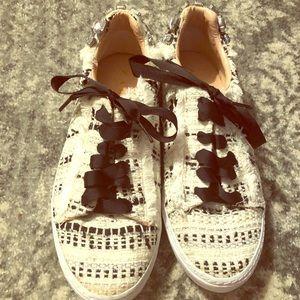 Zara Tweed Jeweled Sneakers  💎